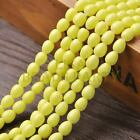 New Arrival 30pcs 9X7mm Teardrop Shape Loose Spacer Glass Beads Yellow