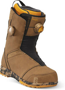 Nidecker (FLOW) Tracer Dual BOA Men's Snowboard Boots NEW - Brown Size 9