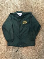 Vintage Green Bay Packers NFL Logo 7 Light Coaches Jacket Sz XL Green Spell Out