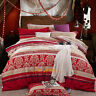Single/Double/Queen/King Bed Quilt/Doona/Duvet Cover Set New 100% Cotton   Red
