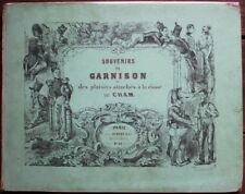 CHAM Souvenirs de Garnison ALBUM ROMANTIQUE Cartonnage éditeur 30 Lithographies