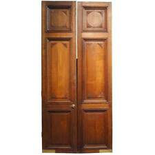 Antique Large French Oak Panelled Double Door 19th century