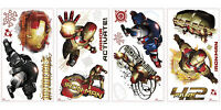 IRON MAN MOVIE WALL DECALS Ironman 20 Stickers Boys Marvel Bedroom Decorations