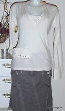 NTS Not The Same Algodón Camiseta XL 42 CYRILL Teñir Salt Beige NUEVO BLANCO