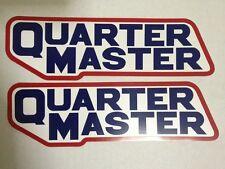 "2 pcs QUARTER MASTER GEARS 9"" X 2.75"" NASCAR RACING DECALS STICKERS"