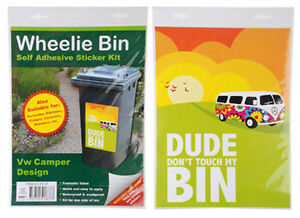 Wheelie/Rubbish Bin Sticker 'Dude Don't touch my bin' NEW