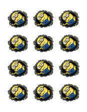 Despicable Me Minion edible party cupcake toppers decoration