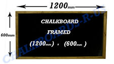 More details for chalkboard - blackboard - menu - specials board  solid wood frame 600x1200mm