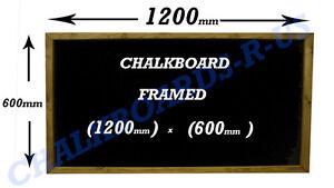 CHALKBOARD - BLACKBOARD - MENU - SPECIALS BOARD  SOLID WOOD FRAME 600x1200mm