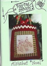 Rag-tag Stitchin' ALPHABET NOEL Stitchery Designs by Michelle Ridgway