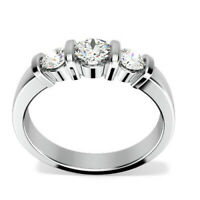 0.86 Ct Diamond Engagement Ring 14K Solid White Gold Wedding Rings Size 5 6 7 8