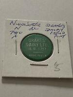 Vintage Token, Drakes Dairy 1 Pint Standard  Milk Coin Token P3