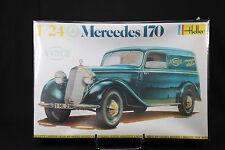 YS011 HELLER 1/24 rare maquette voiture 736 Mercedes 170 année 1983