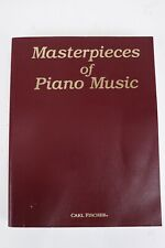Carl Fischer Masterpieces of Piano Music Indexed By Style & Alphabetical Weir