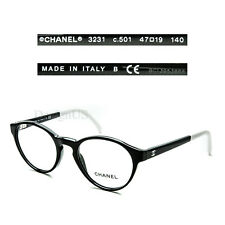 c1b6d97be3 CHANEL 3231 c.501 Black White size 47 19 140 Eyeglasses Rx Made