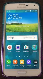 Samsung Galaxy S5 White Sprint 16GB Smartphone **NO RESERVE** Used