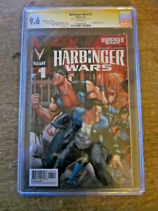 Harbinger Wars 1  CGC 9.6 SS - Signed by Joshua Dysart RARE- 5 signed CGCs exist