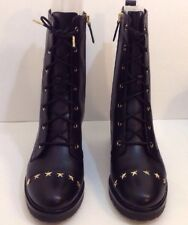 Michael Kors Cody Boots In Black With Gold Star In Women Size 11 (MSRP$225)