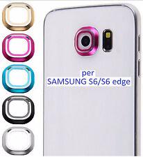3 pz Anello Protezione Fotocamera  in Alluminio x Samsung Galaxy S6 E Edge
