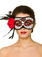 Mexican Day of the Dead Eyemask Halloween Fancy Dress Womens Ladies Costume Mask