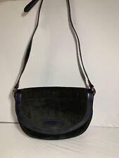 Vintage Lanvin Blue/Black Leather Accordion Shoulder Bag Handbag Crossbody Purse