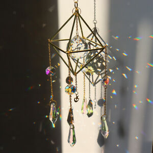 Rainbow   Hanging Crystal Suncatcher Home Wedding Window Decor