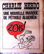Charlie Hebdo n°9 du 18/1/1971; couverture Reiser/ Pétrole Algérien; ZOB !