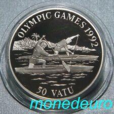 VANUATU 1992. 50 VATU PLATA  PROOF 31,47 g. KM#14 JUEGOS OLIMPICOS