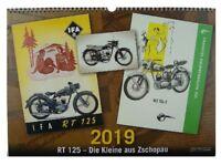 Kalender 2019 DKW - IFA - MZ RT 125  Die Kleine aus Zschopau