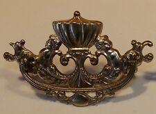 One Original Vintage figural Cherubs brass pull