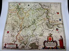 Historische Landkarte Trier Mosel Koblenz Prüm Bitburg St Wendel Bad Salzig 1658