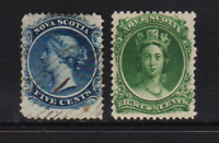 Nova Scotia - #10-11 mint and used, cat. $ 27.00