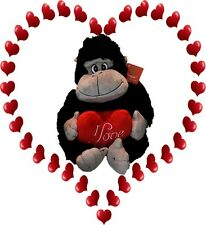"Valentines Day Black Gorilla holding ""I Love You"" Heart approx 20cm"