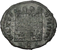 GALERIUS 307AD RARE Camp Gate Turret Follis Authentic Ancient Roman Coin i51199