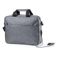 Anti-theft USB Charger Port Travel Padded Laptop Tablet Messenger Cross Body Bag