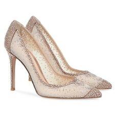 Women Rhinestone Pointy Toe High Heel Slip On Bridal Shoes Stiletto Prom Pumps L
