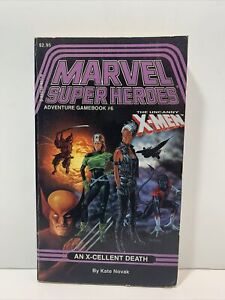 TSR MARVEL SUPER HEROES ADVENTURE GAMEBOOK #6 X-MEN AN X-CELLENT DEATH 1987