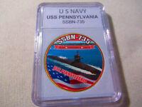 US NAVY SUBMARINE- USS PENNSYLVANIA / SSBN-735 Challenge Coin