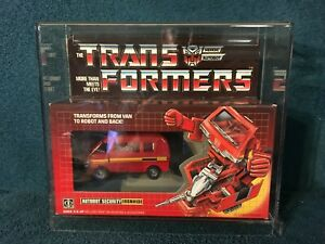 Transformers Ironhide MISB Vintage in Acryllic Display Case Made in Japan 1984