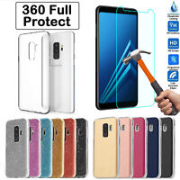 Ultra Clear Gel Case Cover & Tempered Glass for Samsung Galaxy A3 A5 2017 A6 A8