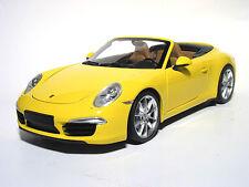 MINICHAMPS 2012 Porsche 991 Carrera S Cabriolet Yellow 1:18 LE 750pcs Rare!