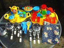 Kids Kitchen Playset Toys Pretend Play Kitchen Accessories Cooking Utensils Set