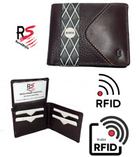 Revolstyle Bi-fold LEATHER Premium Wallet RFID Blocking Protection Brown color