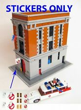 Custom stickers Ghostbuster LEGO 21108 Ghostbusters Ecto-1 Headquarters