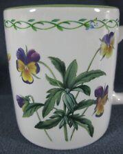 Studio Nova Garden Bloom Y2372 Coffee Mug Cup Pansies Butterfly Bee