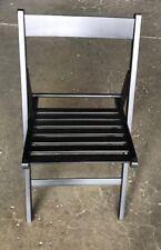 sedia in legno 4 pezzi pieghevole di faggio colore nero per casa da giardino