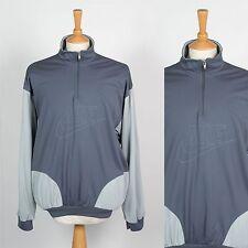 VINTAGE Nike Tuta da ginnastica TOP giacca anni'80 Quarter Zip Pullover OREGON USA Grigio XL