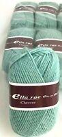 5 Ella Rae Classic Yarn 100g Skeins #120 Aqua Green Heather 100% Wool DL 1827