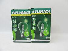 2x Sylvania ECO Halogen 42W E27 Glühlampe Lampe Glühbirne Birne Halogenlampe