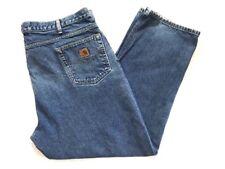 "Carhartt Men's Size 46 Work Casual Denim Jeans Distressed 46x30.5"""